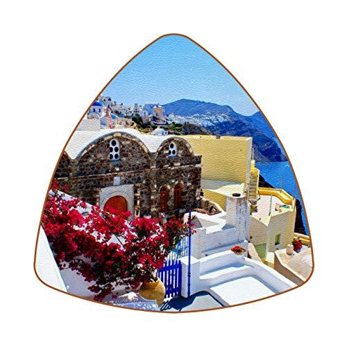 Greek Santorini Landscape Juego de 6 Posavasos para Bebidas para el hogar,...