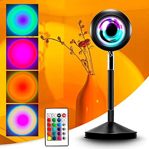 FlyonSea Sunset Lamp Projector Rainbow Projection Lamp, Romantic Visual Led Light with Remote...