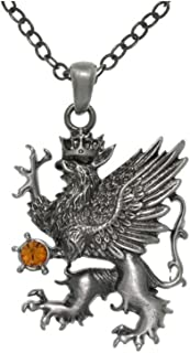 Griffin King Magic Crystal Pewter Pendant Necklace 23