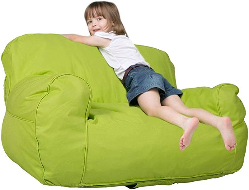 Dporticus Mini Lounger Sofa Bean Bag Chair Self Rebound Sponge Double Child Seat 35 4 X 19 7 X 19 7 Green