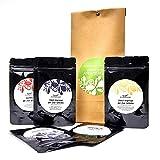 Pure Pepper - Probierset ABENTEUER - 50g - 5 Sorten hochwertiger Pfeffer - sortenrein und handgepflückt - Naturprodukt - Jahrgangspfeffer in bester Qualität
