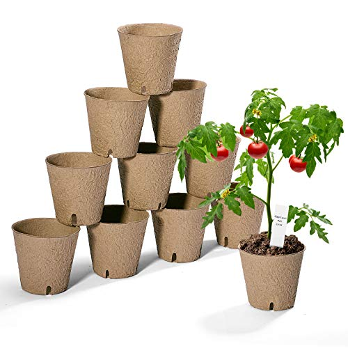Delxo 102 Pack 3 inch Seed Starter Peat Pots Kit for Garden Seedling Tray 100% Eco-Friendly Organic Germination Seedling Trays Biodegradable