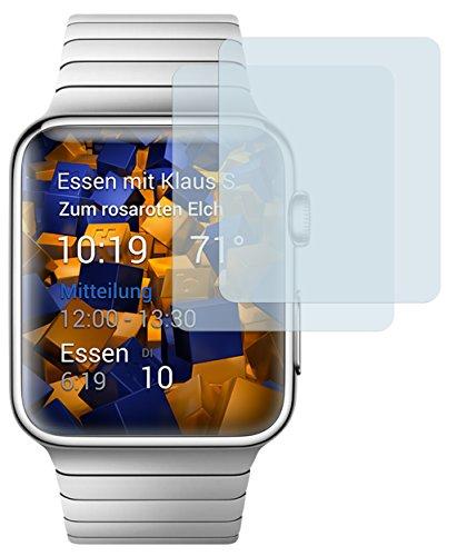 mumbi Schutzfolie kompatibel mit Watch 38mm Series 1 Folie, Watch 38mm Series 2 Folie klar, Bildschirmschutzfolie (2X)