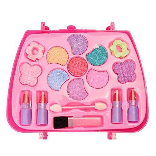 Phoetya Juego de cosmticos para nias de pretender, caja de regalo de maquillaje, juguetes de seguridad porttil, caja de herramientas de maquillaje para nios regalo de cumpleaos
