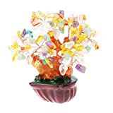 MEELLION 4.7 '' Feng Shui Wealth Crystal Money Tree Home/Office Decor Gifts Business - # 1, como se Describe Love of a Lifetime (Color : #1, Size : As described)