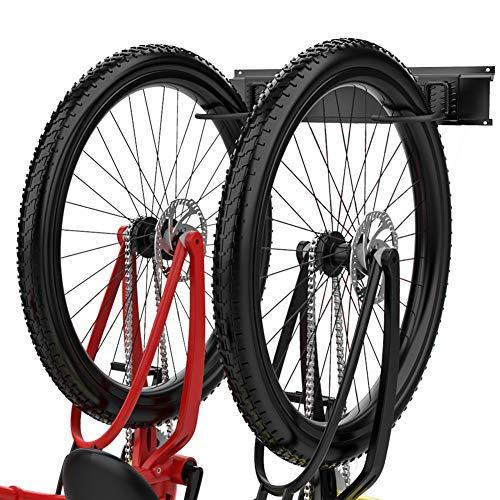 TORACK Bike Storage Rack 2 Bike Hooks for Garage Wall Mount Garage Organizers and Storage System Vertical Bicycle Hanger Up to 100lbs