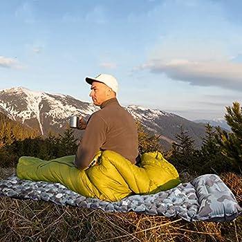 Etechydra Matelas Camping de Gonflable Tapis, Matelas Gonflable Ultraléger avec Oreiller, Tapis de camping pour tentes, randonnée, Camping, Voyage, hamac, Plage