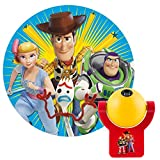 Projectables Disney Toy Story 4 LED Night Light, Plug-In, Dusk-to-Dawn, for Kids, Buzz Lightyear, Sheriff Woody, Bo Peep, and Forky On Ceiling, Wall, or Floor, 45057, 1-Image