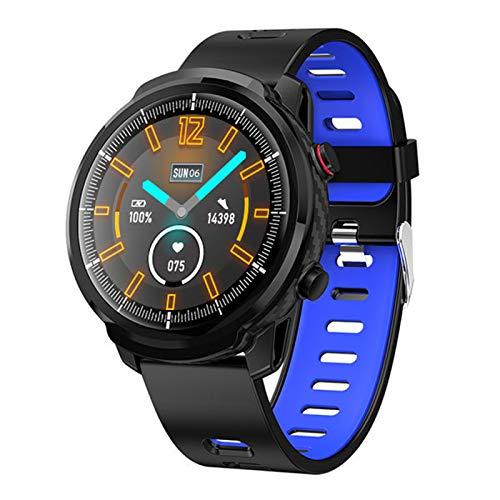 YDK L3 Smart Watch, Damas Impermeables Reloj Inteligente para Hombres Pantalla Redonda Pedómetro de Tarifa de corazón Llamada RECORDATORIO DE Mensaje DE LA Actividad DE SMARTE TRACKE,C