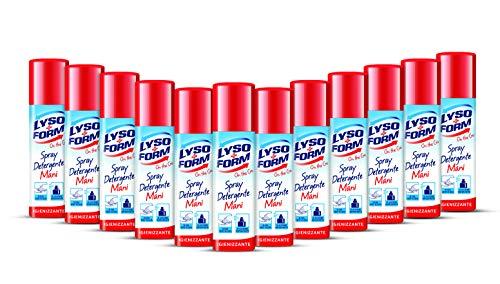 Lysoform On the Go - Spray Detergente Mani Igienizzante, Confezione Risparmio da 12 Pezzi