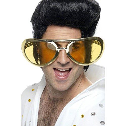Amakando 70er Jahre Riesen-Brille / Rockstar XXL Scherzbrille / Schlagerparty Accessoire ideal für Rock n Roll Mottopartys