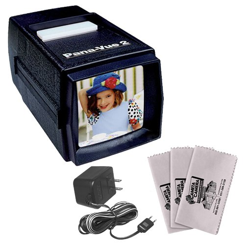 Best Prices! Pana-Vue 2 Lighted 2x2 Slide Film Viewer with AC Adapter + (3) Microfiber Cleaning Clot...