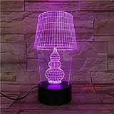 USB LED Nachtlicht Lotus 3D Urlaub Tischlampe Schalter...