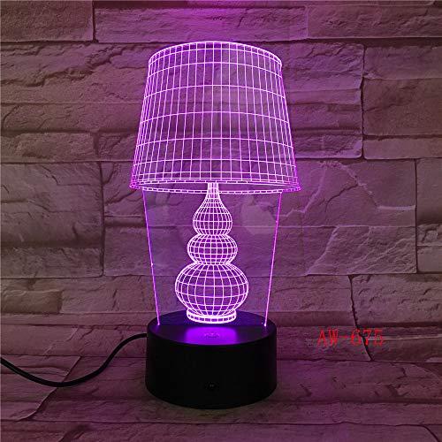 USB LED Nachtlicht Lotus 3D Urlaub Tischlampe Schalter Laterne Touch Dekoration 9 Kein Controller