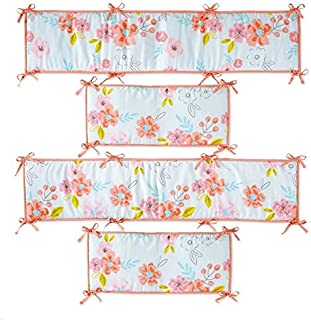 Koala Baby Room to Grow Pink Floral 4 Piece Crib Bumper Set