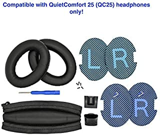 Replacement Ear Pads and Headband Cushion pad for Bose QuietComfort 25 (QC25) Headphones (PU Leather, Black) This Headband...