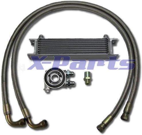 9 Reihen Ölkühler Anschluss Set Stahlflex + Thermostat 16V Turbo Clet