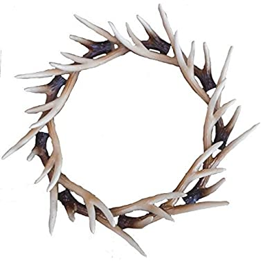 Faux Deer Antler Front Door Wreath, Faux Buckhorn Wreath, Deer Antler Decor, Farmhouse Wedding Wreath, Deer Wall Decor, Wall Hanger
