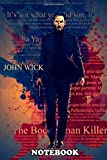 """Notebook: John Wick Color Splash , Journal for Writing, College Ruled Size 6"""" x 9"""", 110 Pages"""