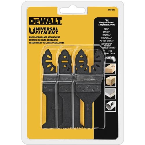 Fantastic Deal! DEWALT Oscillating Tool Blades Set, 3-Piece (DWA4215)