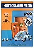 PPD A4 10 Fogli Di Carta Vinile Adesiva Semi-Trasparente Per Stampanti A Getto D'Inchiostro Inkjet - PPD-39F-10