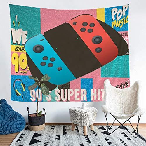 Loussiesd Gamepad - Manta para colgar en la pared, diseño de videojuegos, para niños, adolescentes, adultos, diseño clásico de mando de juego, ultra suave, grande, 58 x 79, funda de sofá
