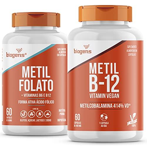 Kit Com Metil Folato + Metilcobalamina B12, 60 Cápsulas Biogens
