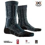 X-Socks Trek X Linen Socks, Unisex Adulto, Forest Green/Opal Black, 42-44