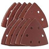 Navaris Set de 100x papel de lija triangular - Hojas de recambio para lijadora...