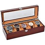 HOUNDSBAY Commander Dresser Valet Watch Box...