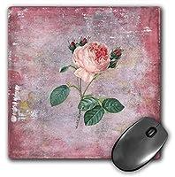 3dRose Mouse Pad Victorian Vintage Pastel Pink Roses Flower Watercolor Illustration, 8 x 8' (mp_266908_1) [並行輸入品]