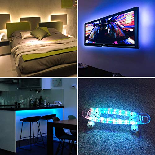 AMIRLEDテープライトTVバックライトテレビPC照明目の疲れを取るUSB接続リモコン操作強粘着両面テープ仕様カラー選択切断可能防水防塵SMD5050RGBLEDライト屋内外装飾