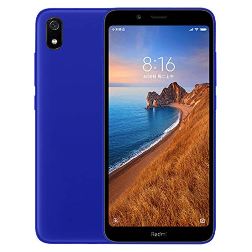 TBOC Funda de Gel TPU Azul para Xiaomi Redmi 7A [5.45 Pulgadas] Carcasa de Silicona Ultrafina y Flexible para Teléfono Móvil [No es Compatible con Xiaomi Redmi 7]