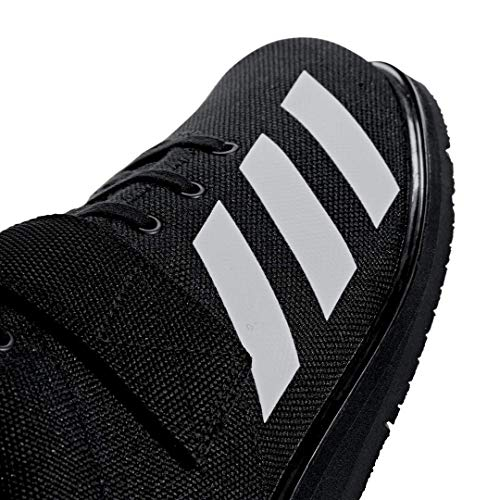 adidas Men's Powerlift 4 Weightlifting Shoe, Black/White/Black, 13 M US