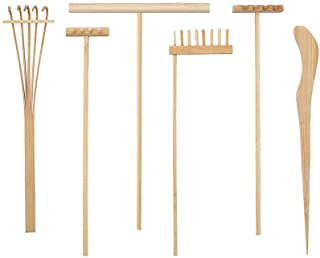 Healifty 6pcs Bamboo Zen Garden Rakes Meditation Sand Mini Z