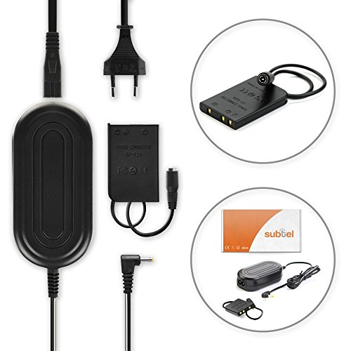 subtel® AC Adapter voor Nikon Coolpix P500, P510, P520, P530, P100, AW110, P340, P90, P330, P80, P300 3m EH-62 + EP-62A 4.3V Stroomkabel Voeding Netsnoer