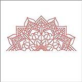 Half Mandala - Vinyl Die Cut Decal Sticker for Car, Laptop, etc.