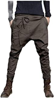 XINHEO Mens Custom Fit Pure Colour Tapered Relaxed-Fit Relaxed Sweatpant