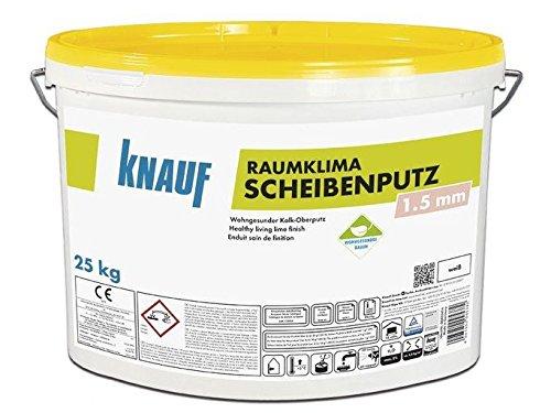 Raumklima Scheibenputz 1,5 mm Körnung a 25 kg Eimer