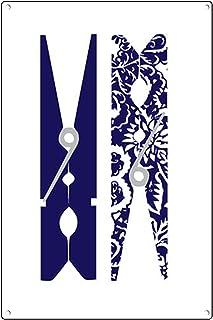 Graman Plaque vintage en métal avec pinces à linge – Art mural de buanderie – Décoration de buanderie – Décoration moderne...