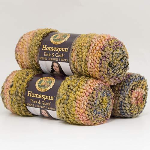 Homespun Thick and Quick Yarn, Praline Stripes - Lion Brand Yarn 792-240