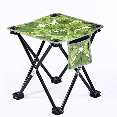 Portable Folding Camping Stool Small Fishing Chair Foldable Camping Footrest Lightweight Fishing Stool with Stable Flat Feet and Carry Bag Ideal for Camping Fishing Picnic Garden BBQ