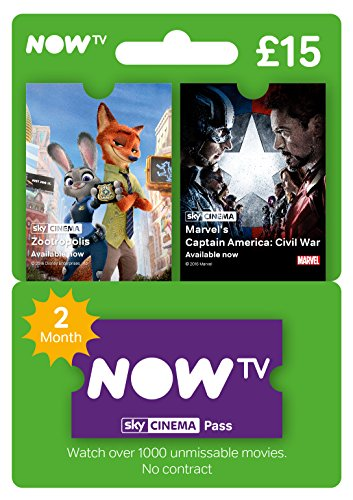 NOW TV, Carta per abbonamento Abbonamento di 2 Mesi per Sky Movies, Regno Unito Varies