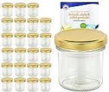 Set di vasetti da 167ML colore oro to 66con diamante gelier zauber ricettario, Marmellata, barattoli, barattoli, Occhiali