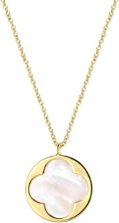 Crescent Moon Necklace Natural Shell Pendant Dainty Necklace Fashion Jewelry for Women