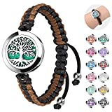 Essential Oil Diffuser Bracelet, ttstar Aromatherapy Essential Oil Jewelry Stainless Steel Adjustable Handmade Woven Bracelet with 24pcs Refill Pads Birthday Gifts for Mother Women Girlfriend