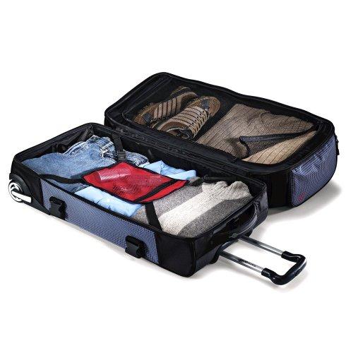 Samsonite Ripstop Wheeled Rolling Duffel Bag, Blue, 26-Inch