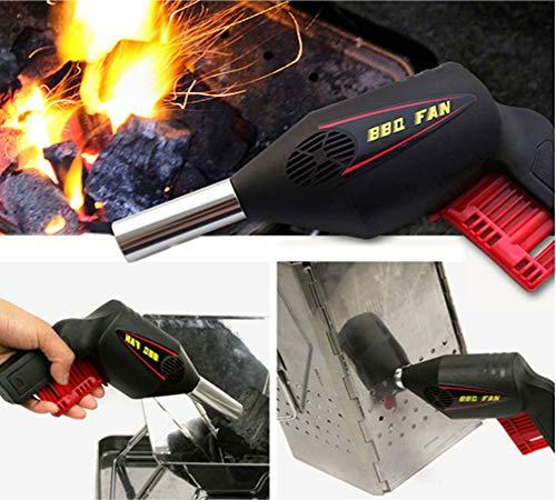 YZXZM Bewegliches im Freien Blower Barbecue-Werkzeug-Handpresse manuellen Gebläse Grill Fön Camping Zubehör Grill Fane Werkzeuge Air Blower