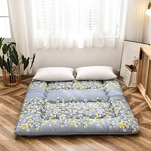 Colchón de Tatami Grueso Colchón Doble Plegable Colchón Futón,GreyB-90cmx200cm