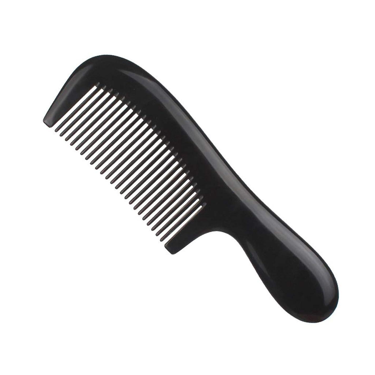 一生ブランド名解釈ブラックバッファローホーンくし、家庭用ポータブル大型ワイド歯、ストレートヘアロングヘアメイクくし頭皮マッサージ旬髪の静電気防止、男性、女性の髪のくし (Size : B)